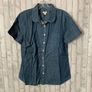 J.Crew | Chambray Short Sleeve Shirt